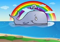 Happy big whale Stock Photos