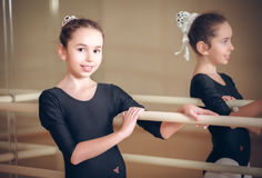 Happy biracial child dancer Royalty Free Stock Photo