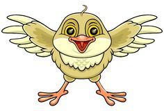 Happy bird 01 Royalty Free Stock Photography