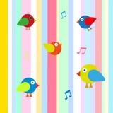 Happy bird color background  Stock Photos