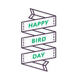 Happy Bird day greeting emblem Royalty Free Stock Images