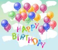 Happy birhtday bright card. Happy birthday bright card, beautiful celebration background Royalty Free Stock Photos