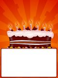 Happy birtday. Greeting Illustration of a cake for happy birthday stock illustration