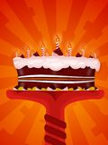 Happy birtday. Greeting Illustration of a cake for happy birthday royalty free illustration