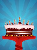 Happy birtday. Greeting Illustration of a cake for happy birthday Stock Image