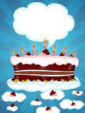Happy birtday. Greeting Illustration of a cake for happy birthday vector illustration