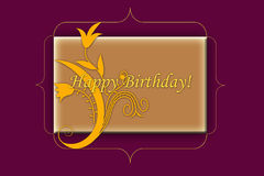Happy birtday card Royalty Free Stock Photos