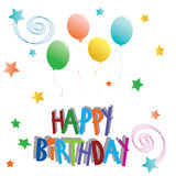 Happy birtday illustration Royalty Free Stock Photos