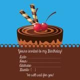 happy birtday invitation card Stock Image