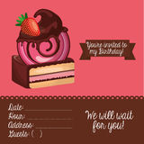 happy birtday invitation card Royalty Free Stock Images