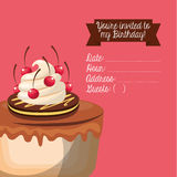 happy birtday invitation card Royalty Free Stock Photography