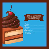 happy birtday invitation card Stock Images
