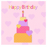 Happy birth day card or poster Royalty Free Stock Photo