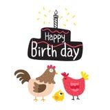 Happy birth day card vector design. Birth day card vector design stock illustration