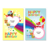 Happy birth day cards or posters Stock Image