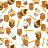 Happy birth day/cupcake seamless pattern design Stock Photography