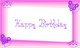 Happy Birthday. Invitation Pink Happy Birthday Card Stock Photos
