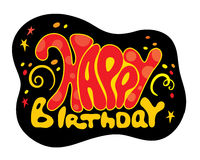 Happy birthday. Vector inscription - birthday on a black background Stock Photo