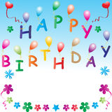 Happy birthday. Illustration of happy birthday greetings Royalty Free Stock Images