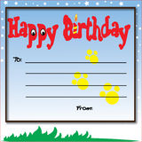 Happy Birthday. Birthday card decorate with funny word and beautiful background Royalty Free Stock Photo