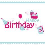 Happy birthday. Birthday card design, vector illustration Stock Image