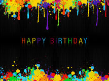 Happy birthday. A wishes of HAPPY BIRTHDAY Stock Images
