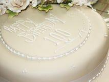 Happy Birthday. Birthday cake celebrating 100th Birthday Stock Photo