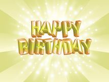 Happy Birthday!. An image of the words Happy Birthday' with a star burst background Royalty Free Illustration