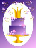 Happy birthday. Illustration of a happy birthday card with a crown Stock Photo