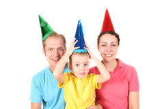 Happy birthday. Color shirt family with boy stock images