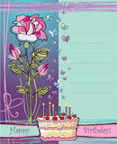 Happy birthday. Greeting card with happy birthday Stock Photography