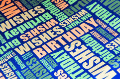 Happy birthday. Wishes colorful background stock photo