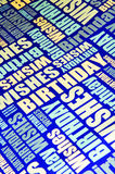 Happy birthday. Wishes colorful background royalty free stock photography