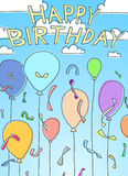Happy Birthday. Hand Drawn theme of Happy Birthday Royalty Free Stock Images