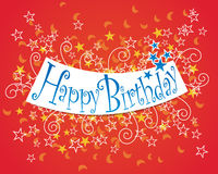 Happy Birthday. A colourful Happy Birthday Banner Stock Photo