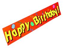 Happy Birthday!. A Happy Birthday banner stock illustration