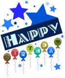 nice Happy birthday greeting card isolated Stock Image