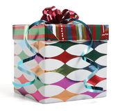 Happy Birthday. An interestingly wrapped gift Royalty Free Stock Photo