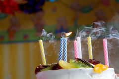 Happy birthday. Birthday cake Royalty Free Stock Photography