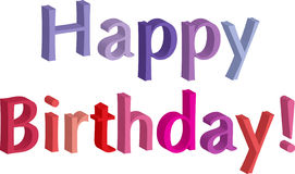 Happy Birthday. 3D letters in festive colors Royalty Free Stock Photo