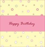 Happy birthday. Celebratory card with an inscription Happy birthday Vector Illustration