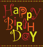 Happy Birthday. Vector, colorful Birthday greeting card Royalty Free Stock Photography