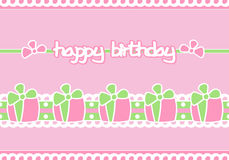 Happy Birthday. A happy birthday card decorated with a set of gifts Royalty Free Stock Photos