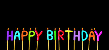 Happy birthday. Candles with letters Royalty Free Stock Photography