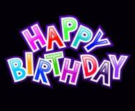 Happy birthday. 3D balck background Stock Image