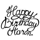 Happy birthday Aaron name lettering. Vector Happy birthday Aaron name lettering Stock Photos