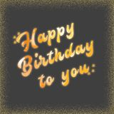 happy birthday abstract royalty free stock images
