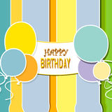 Happy birthday. Abstract background  with decoration and balloons Stock Photo