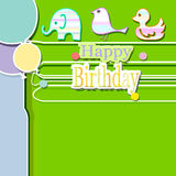 Happy birthday. Abstract background  with decoration and balloons Royalty Free Stock Photos