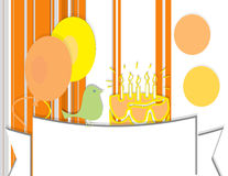 Happy birthday. Abstract background  with decoration and balloons Royalty Free Stock Photography